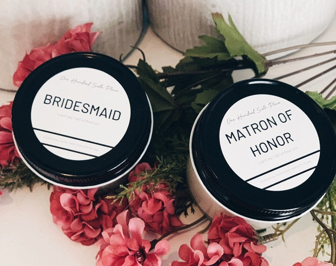 4oz Soy Candles Bridesmaid Candles