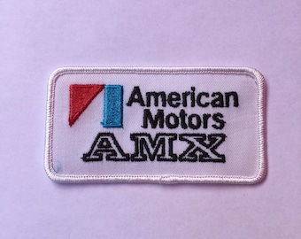 VINTAGE AMX American Motors PATCH Nos Item L@@K Traditional Style Logo