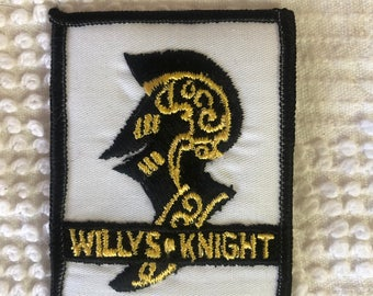 VINTAGE WILLYS Knight PATCH Nos Item L@@K Traditional Style Logo