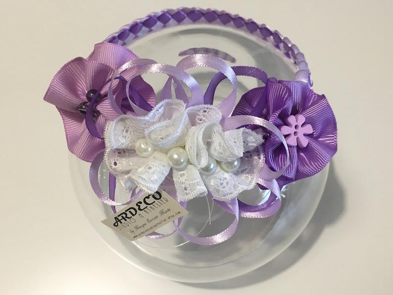 Newborn Headbands  Infant Headband   Violet-Lila Newborn Headband  Infant Headband  Baby Braied Headband