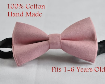 Boy Kids Baby Rabbits 100/% Cotton Easter Bunny GRAY GREY Bow Tie 1-6 Years Old