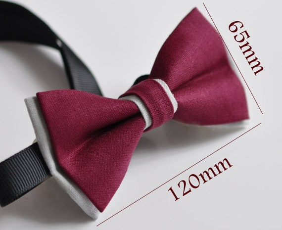 Men Women Rumba Red Grey 100/% Cotton Hand Made Bowtie Bow Tie Wedding Ball Party