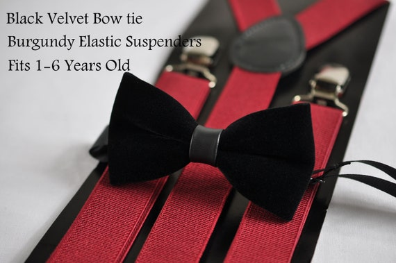 Boy Kids Baby 100/% Cotton DARK ROSEWOOD RED Bow Tie Bowtie Wedding 1-6 Years Old