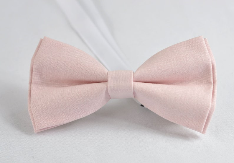 Mens Baby Pink 100/% Cotton Hand Made Pretied Bow tie and  Matched Pocket Squares Hanky Handkerchief for Wedding or Party