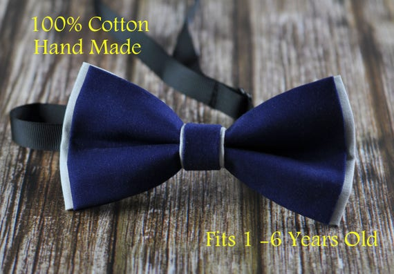 Men 0100 Binary Code Pattern Navy Blue 100/% Cotton Hand Made Bow Tie Bowtie