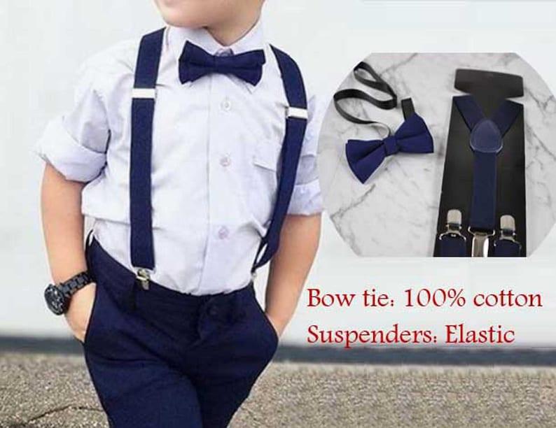 Boy Kids Teenage 100/% Cotton Navy Blue White Stars Bow Tie Bowtie 7-14 Years Old