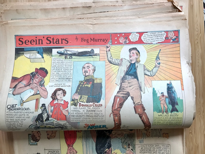 Antique 1940s newspaper pages lot of 50 akron beacon journal comic strips  vigne... Antique 1940s newspaper pages lot of 50 akron beacon journal comic  strips ...