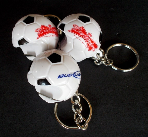 NEW Bud Light Beer Rubber Keychain Budweiser