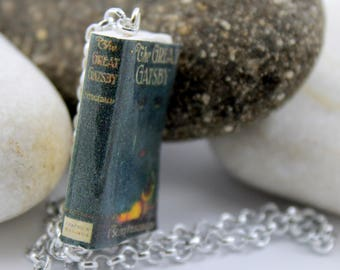 Bookmark The Great Gatsby by Francis Scott Fitzgerald, book cover miniature original fandom gift idea, handmade little book