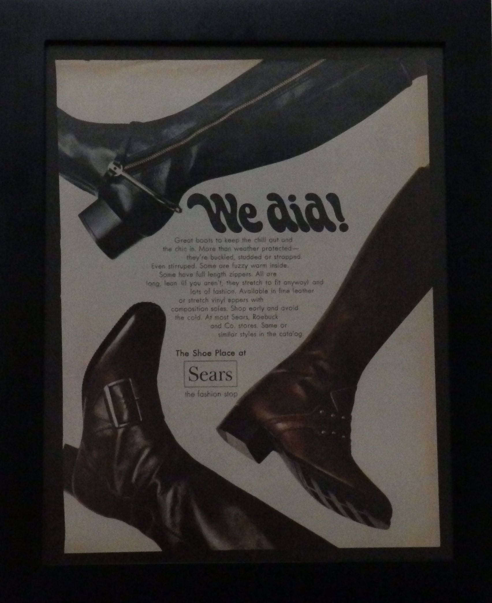 6c52ab6609a Boots, Vintage Ad, Women's Boots, Sears, 1969