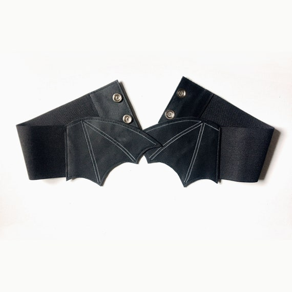 Bat Wings Belt|| Waist Cincher, Waist Belt, Vampire Belt, Leather Belt, , Gothic Clothing, Cosplay, Pastel Goth, Kawaii, Halloween by Etsy