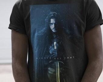 Let it Snow T-Shirt Game of Thrones Jon Snow John New Tee