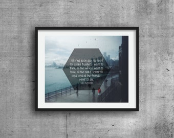 Quote Print, Wall Art, Chicago Photography, Digital Print, Wall Decor