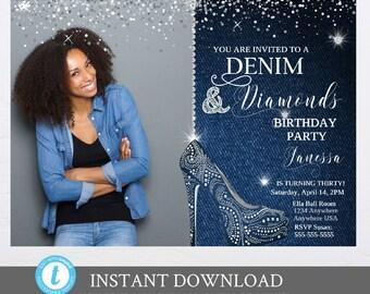 Denim And Diamonds Etsy