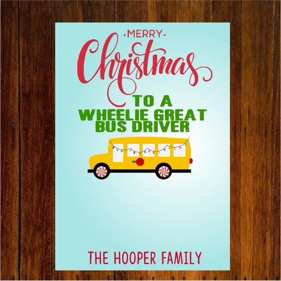 Christmas Gift Card Poster.Bus Or Teacher Gift Card Holder Christmas Gift Card Holder Teacher Or Bus Driver Christmas Gifts Gift Card Holder Digital Or Printed