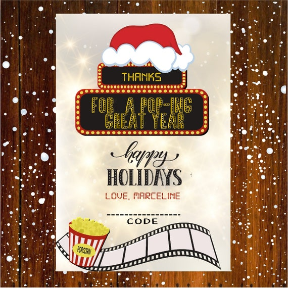 Teacher Gift Card Holder MOVIE Ticket Christmas Gift Card