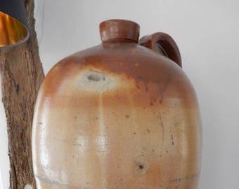 Very Large Stoneware 6 gallon Flagon