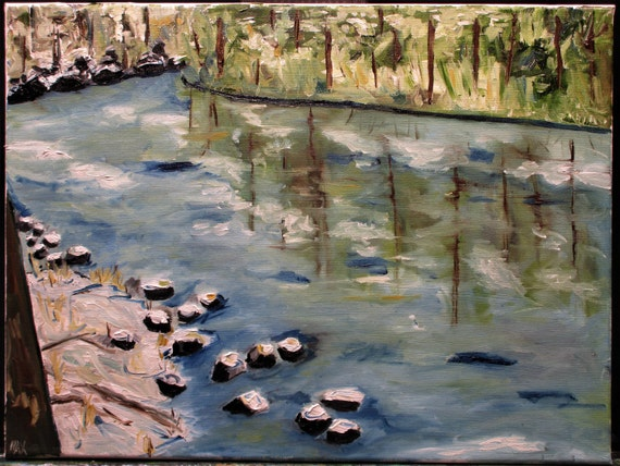 "Riverside State Park.16x12"" (Original, Oil, Canvas,16""x12"",Landscape,Impressionism,Nature,Art,Wall Art,Painting)"