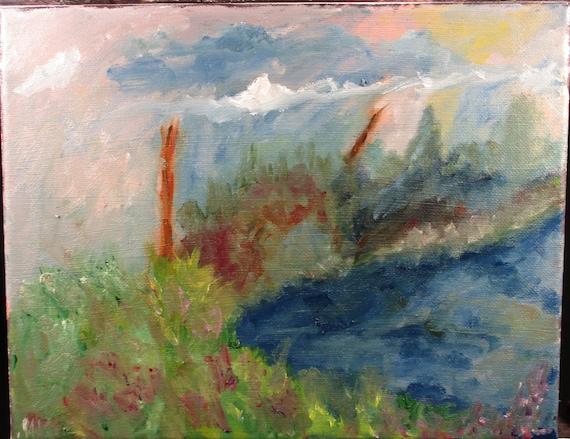 Process 1  10x8in.  (Impression, Landscape,Original,Art,Painting,custom,maxwellbrown,nature)