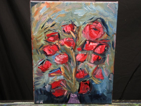 Red Flowers (1/5) 10x8In