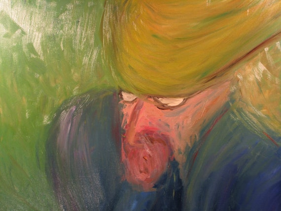 Solicitous Man, 20x16 (art,original,custom,man,oil,hat,impression,portrait,maxwellbrown,painting)