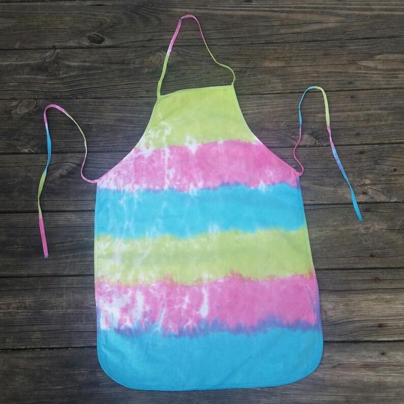hippie apron cotton canvas apron tie dye Tie dye apron baking apron modern apron cooking apron pastel tie dye