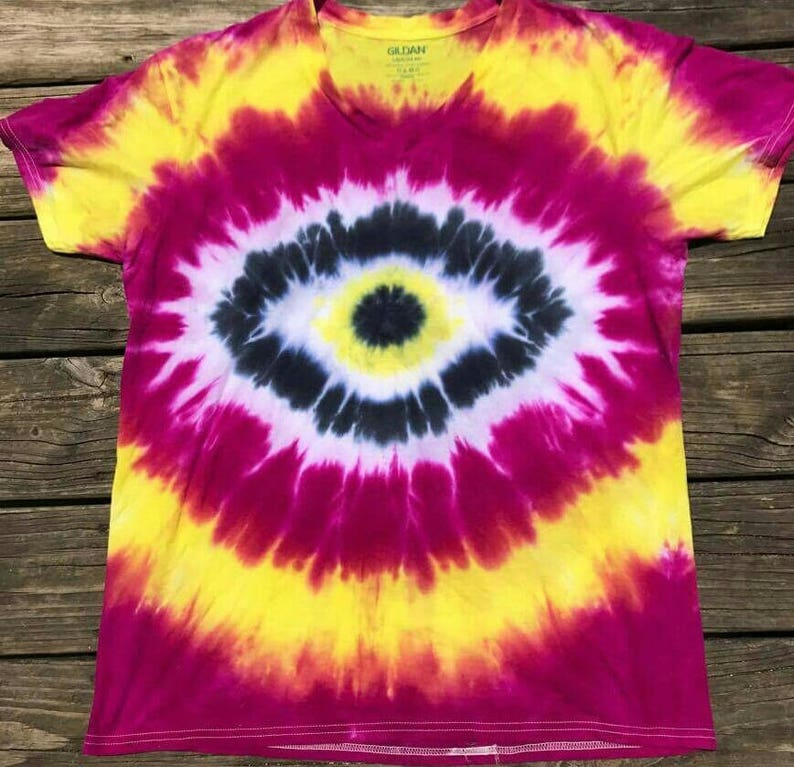 0a974d807abf95 Tie dye shirt all knowing eye shirt festival shirt evil eye