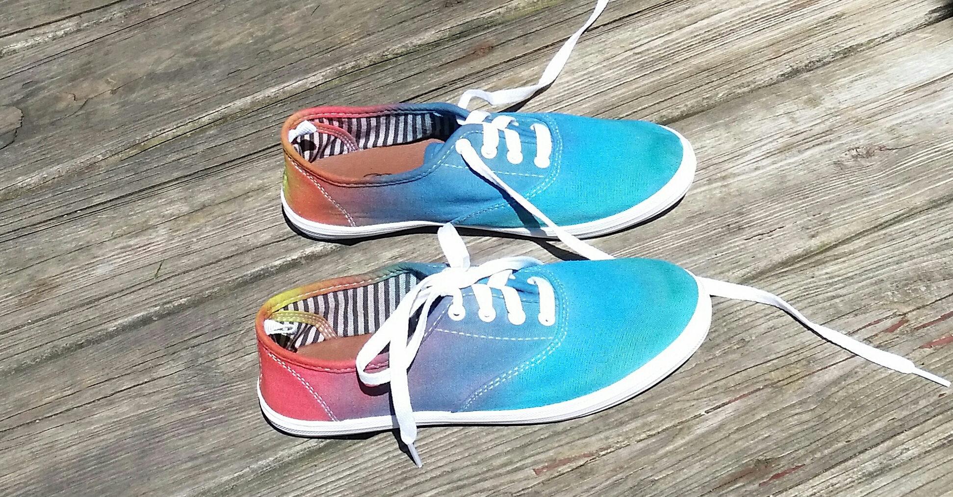 2730d2f1a07d Tie dye shoes tie dye shoes canvas shoes rainbow shoes etsy jpg 1943x1014 Tie  dye shoes