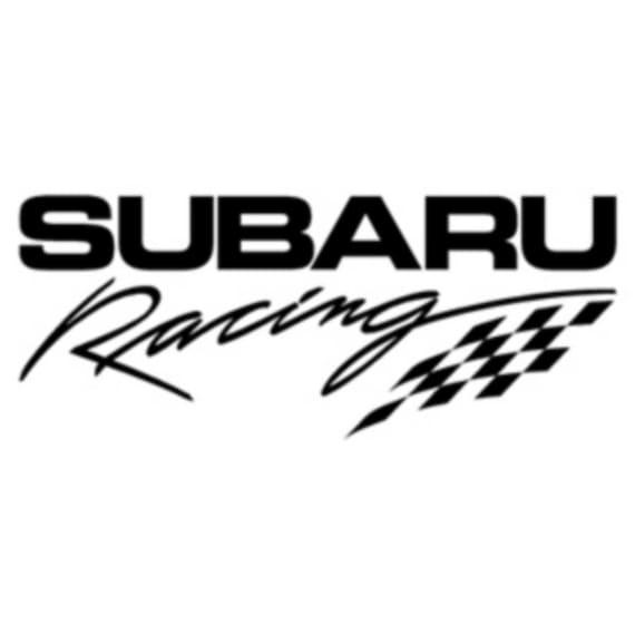 2x subaru racing sticker vinyl decal
