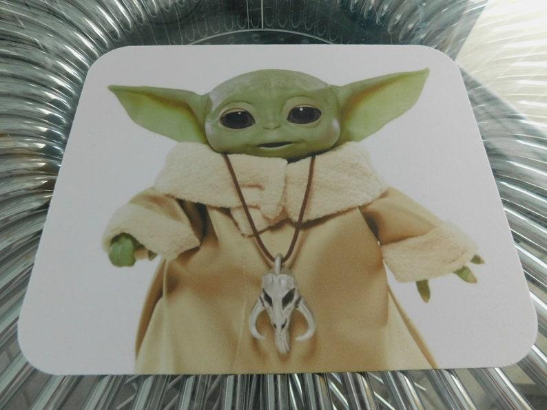 desktop baby yoda cuty mandalorian  star wars      mouse pad for laptop