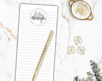 Flip-It Custom Notepad Set   Stationary Set  Weekly planner Notepad Set   wedding and bridal gift  bridesmaid gift FREE SHIPPING!!