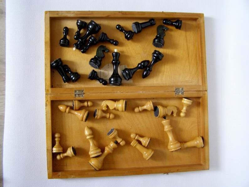 Soviet Wooden chess Vintage chess Vintage chess Wooden soviet chess set Chess USSR Soviet chess
