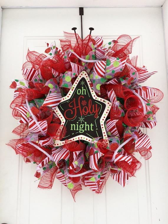 image 0 - Deco Mesh Christmas Wreath