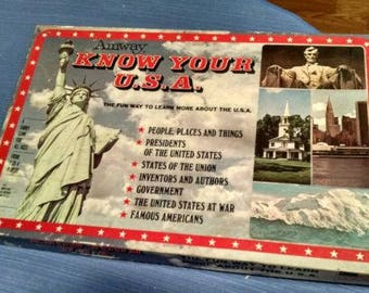 1971 Amway Know your USA game