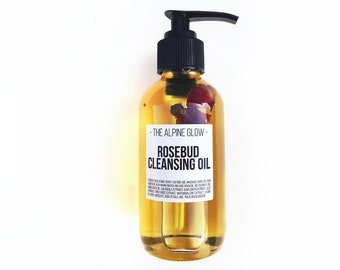 ROSE OIL CLEANSER - Cleansing Oil - Makeup Remover - Vegan Skincare - Oil Cleansing Method - Oil Washing - Dry Skin Oil - Face Wash