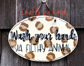 hand-painted hanging wood sign fun door hanger work family decoration Me? Sarcastic? Never square