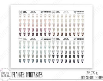 Printable Coffee Cup planner stickers | Neutral colors | Basics palette | ORIGINAL Hand drawn | Coffee Icons