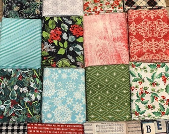 Tim Holtz Eclectic Elements - Christmastime Collection - by Free Spirit - 16 Fat Quarters