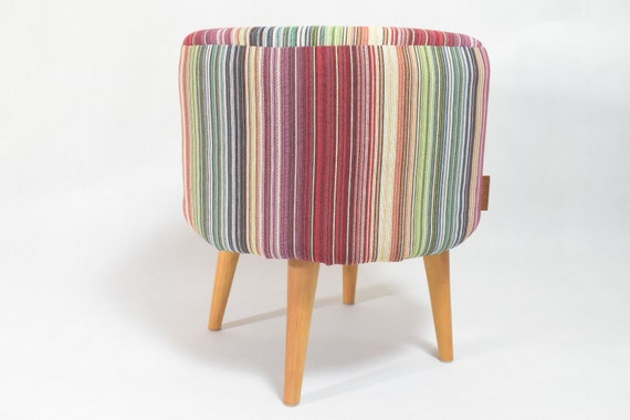 Awe Inspiring Colorful Striped Round Footstool Modern Pouf Ottoman Pdpeps Interior Chair Design Pdpepsorg