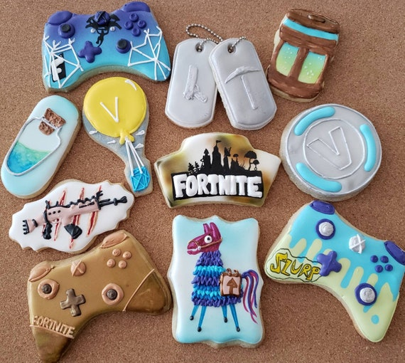 Birthday Cookies Fortnite Gifts Video Games Decorated Iced