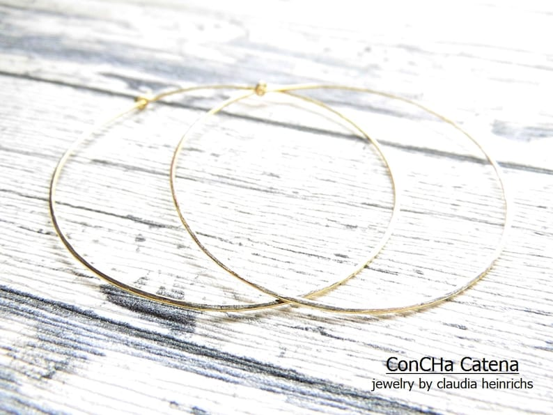 Goldfilled Hoops XXXL 6 cm 935 silver Rose-Goldfilled handmade Jewelry