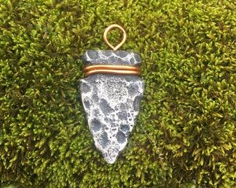 Silver arrowhead charm  small pendant necklace