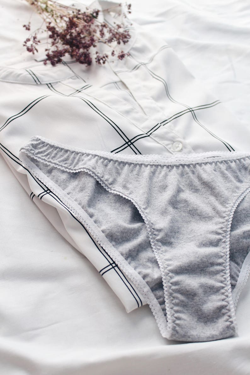 6341bb5d3ede66 Gray organic cotton panties / Comfortable low rise panties / | Etsy