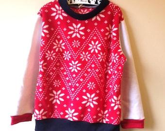 Jumper Nordic print micro fleece pullover