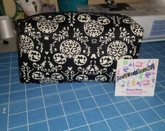 Disney Inspired Demask Mickey cosmetic bag