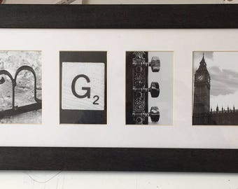 Named Personalized Alphabet Frame