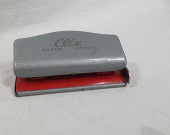 Vintage Clix Paper Punch, Office Supplies, Desk Accessory