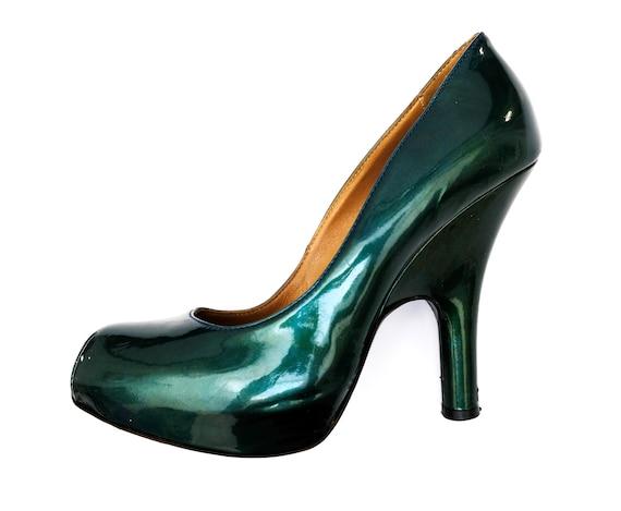 Vivienne Westwood Vintage Metallic Green Platforms