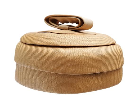 Christian Dior Vintage Straw Pillbox Hat, 1960s