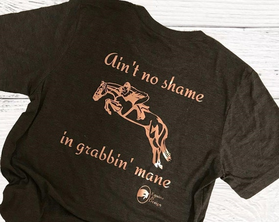 Mane Grabber Super Soft Ladies Short Sleeve Shirt  Hunter/Jumper Equestrian